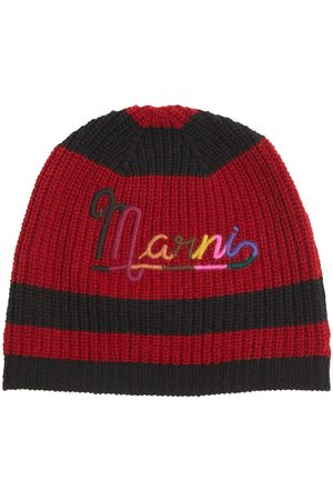 Marni Wool Knit Beanie W/ Embroidered Logo