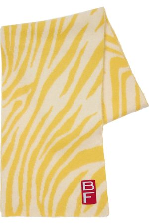 By Far Zebra Alpaca Blend Knit Scarf