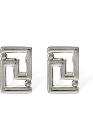 VERSACE Men Earrings - Greek Motif Stud Earrings