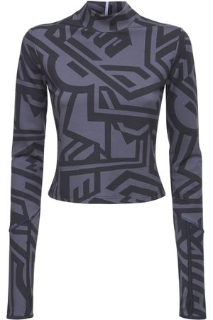 McQ Dazzele Print Jersey Rollneck Top
