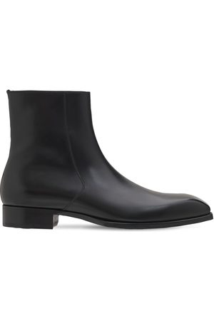 Tom Ford 27mm Leather Ankle Boots