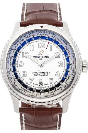 Breitling Stainless Steel Aviator 8 B35 Unitime AB3521U01G1P3 Men's Wristwatch 43 MM