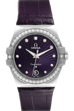 Omega Diamonds Stainless Steel Constellation 123.18.35.60.60.001 Men's Wristwatch 35 MM