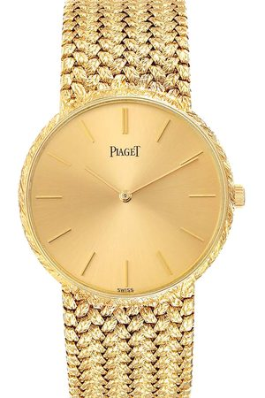 PIAGET Champagne 18k Yellow Vintage 9065 Men's Wristwatch 31 MM