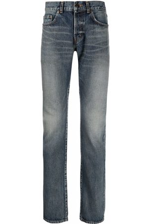 Saint Laurent Mid-rise slim-fit jeans