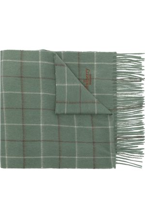 MULBERRY Scarves - Tri-colour Windowpane-Check lambswool scarf