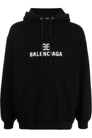Balenciaga Pixel logo-print hoodie