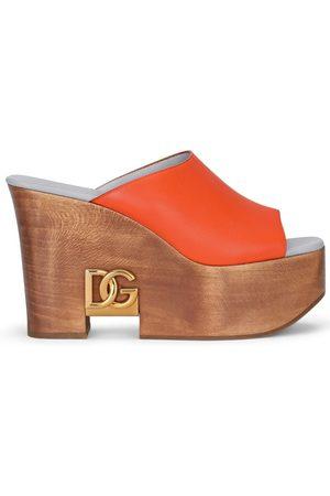 Dolce & Gabbana Logo-plaque wedge sandals