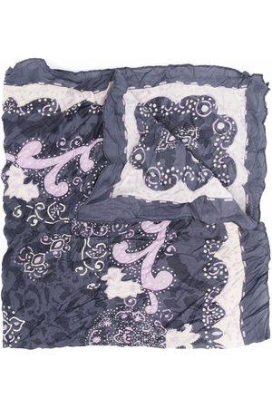 Acne Studios Crinkled bandana print scarf - Grey