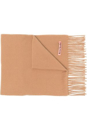 Acne Studios Scarves - Skinny wool scarf - Neutrals