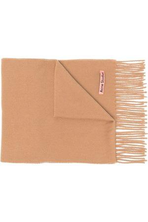 Acne Studios Skinny wool scarf - Neutrals