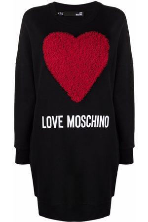 Love Moschino Women Sweatshirts - Tulle heart sweatshirt dress