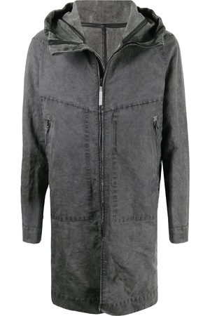 ISAAC SELLAM EXPERIENCE Men Coats - Hesitant Talmud hooded coat - Grey