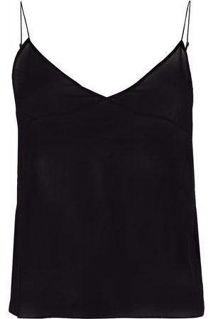 Saint Laurent Women Camisoles - Sheer-panel vest top