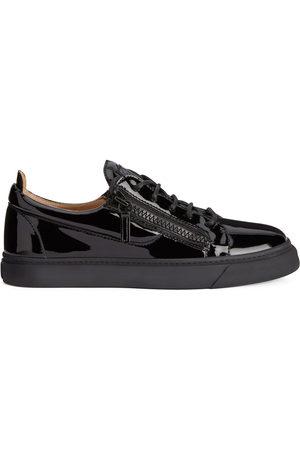 Giuseppe Zanotti Men Sneakers - Frankie patent leather low-top sneakers