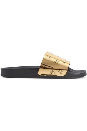 Giuseppe Zanotti Men Sandals - Brett signature-logo slides