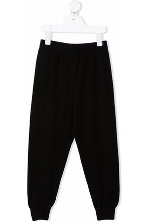 Balmain Kids Boys Sweatpants - Drop-crotch silk-blend track pants