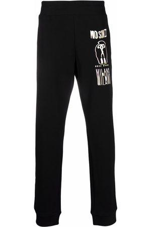 Moschino Men Sweatpants - Warped Glitch Artworks print track pants