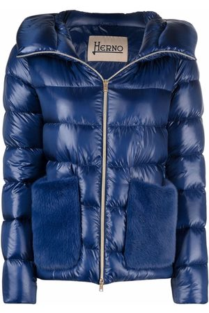HERNO Faux fur hood padded jacket