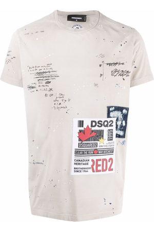 Dsquared2 Logo-patch short-sleeve T-shirt - Neutrals