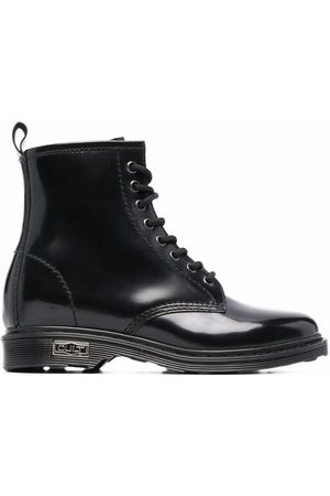 Cult Polished-leather lace-up boots