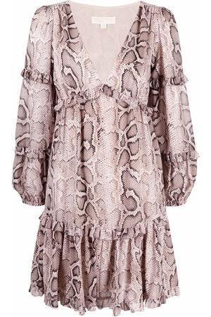 Michael Kors Snakeskin-print mini dress - Neutrals