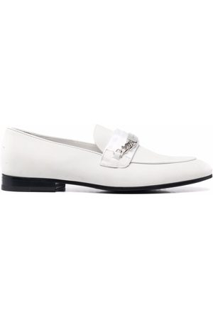 Philipp Plein Men Loafers - Chain-embellished leather loafers