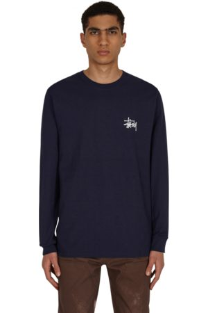 STUSSY Basic longsleeve t-shirt NAVY S