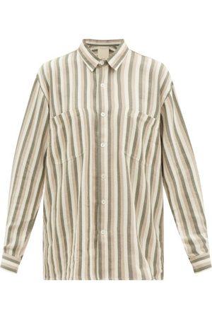 Marrakshi Life Stripe-jacquard Patch-pocket Cotton-oxford Shirt - Womens - Multi