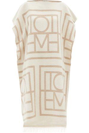 Totême Monogram-jacquard Organic Cotton-blend Kaftan - Womens