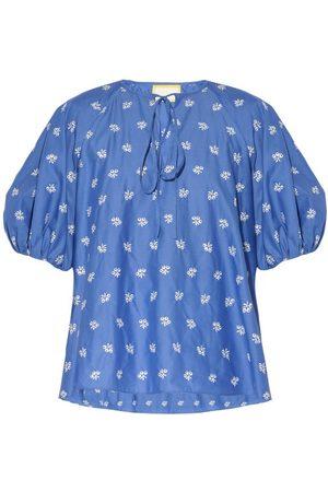 Erdem Monaco Embroidered Cotton-blend Poplin Blouse - Womens