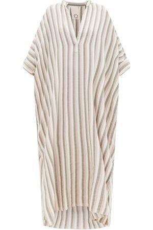 Marrakshi Life Striped Cotton Kaftan - Womens - Multi