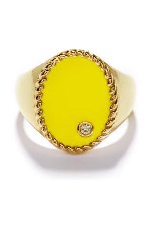 YVONNE LÉON Diamond, Enamel & 9kt Signet Ring - Womens