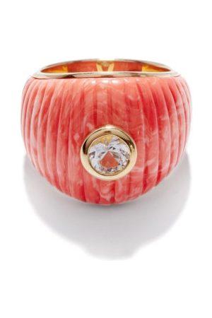YVONNE LÉON Topaz, Coral & 9kt Gold Ring - Womens - Multi