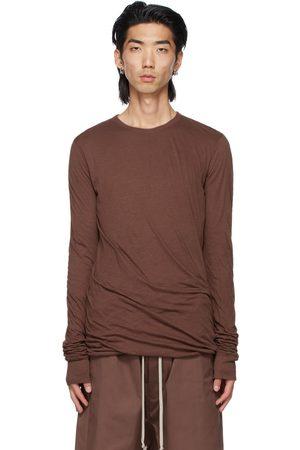 Rick Owens Burgundy Double Long Sleeve T-Shirt