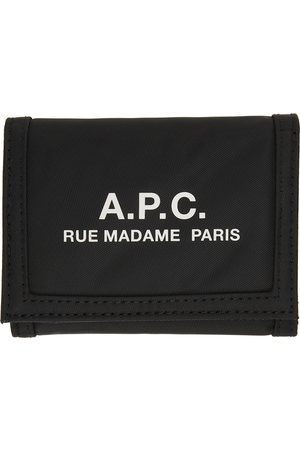 A.P.C. Black Recovery Trifold Wallet