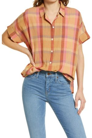 Madewell Women's Daily Neon Madras Plaid Button-Up Shirt