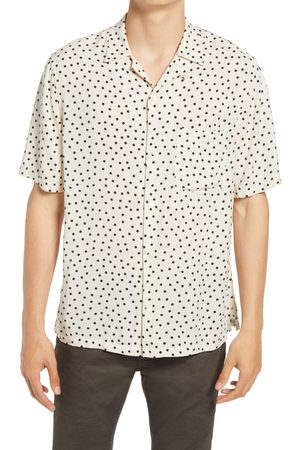AllSaints Men's Electro Relaxed Fit Short Sleeve Button-Up Camp Shirt