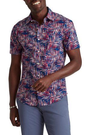 BONOBOS Men Short sleeves - Men's Rivie Slim Fit Palm Print Short Sleeve Button-Up Shirt