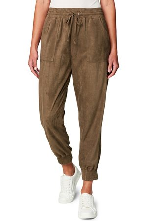 BLANK NYC Women's Faux Suede Joggers