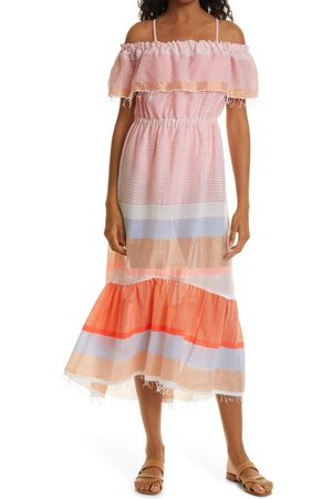 Lemlem Women's Marjani Beach Off The Shoulder Cover-Up Dress