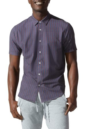 Good Man Brand Men Short sleeves - Men's Flex Pro Slim Fit Print Short Sleeve Button-Up Shirt