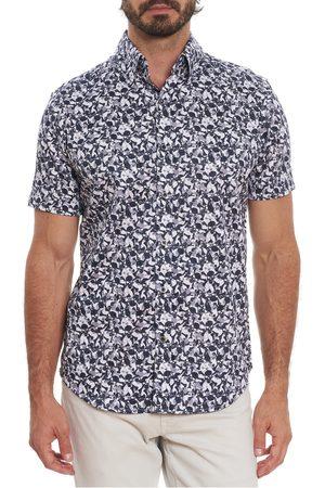 Robert Graham Men's Leyburn Skull Short Sleeve Button-Up Shirt