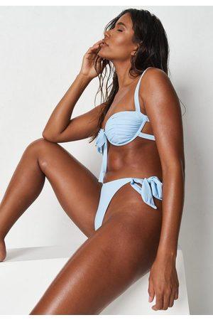 Missguided Zara Mcdermott X Tie Side High Leg Bikini Bottoms