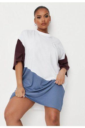 Missguided Plus Size Colorblock Oversized T Shirt Dress