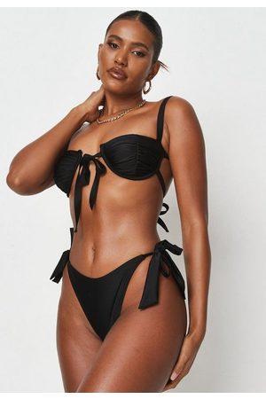 Missguided Zara Mcdermott X Fuller Bust Tie Front Bikini Top