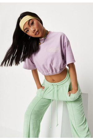 Missguided Petite Waffle Cropped T Shirt