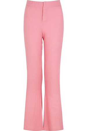 Gimaguas Women Wide Leg Pants - Comporta flared cotton trousers