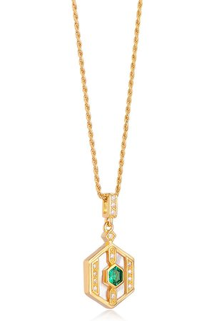 V by Laura Vann Darcy 18kt gold-plated necklace