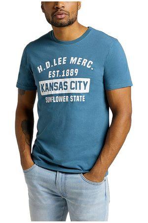 Lee Kansas City Tall Fit Short Sve T-shirt S Teal
